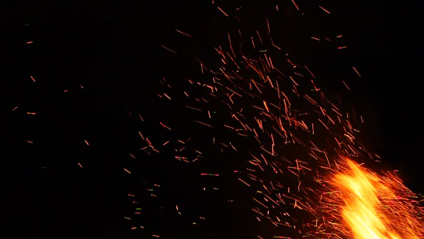 Campfire Sparks Background | Shutterstock HD Video #6852988