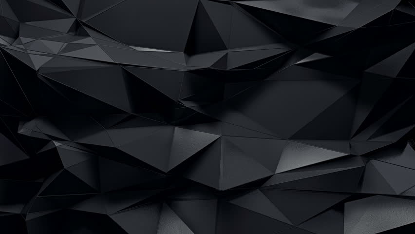 abstract dark 3d rendered geometric background with spikes in ultra high definition quality