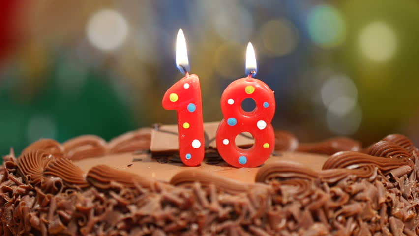 Birthday Cake With Eleven Candles