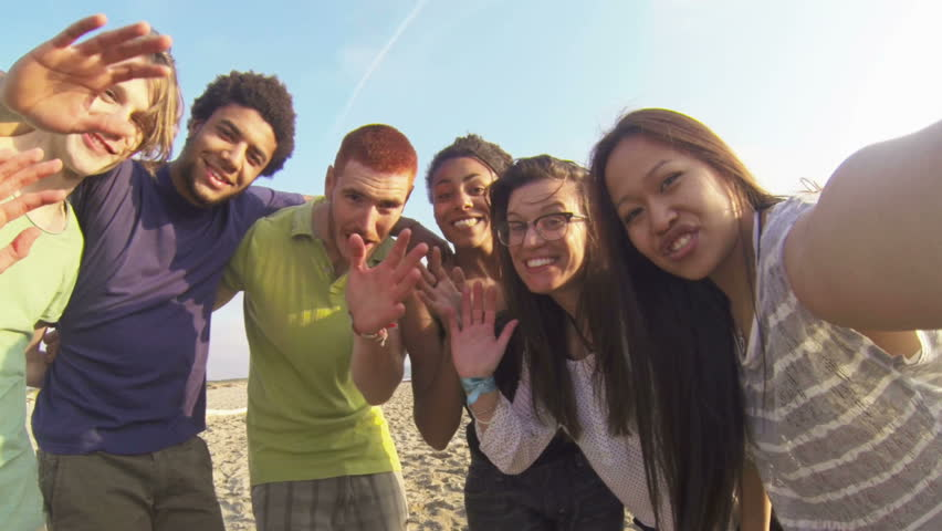 Multiracial Group Having Fun at Beach | Shutterstock HD Video #6888511
