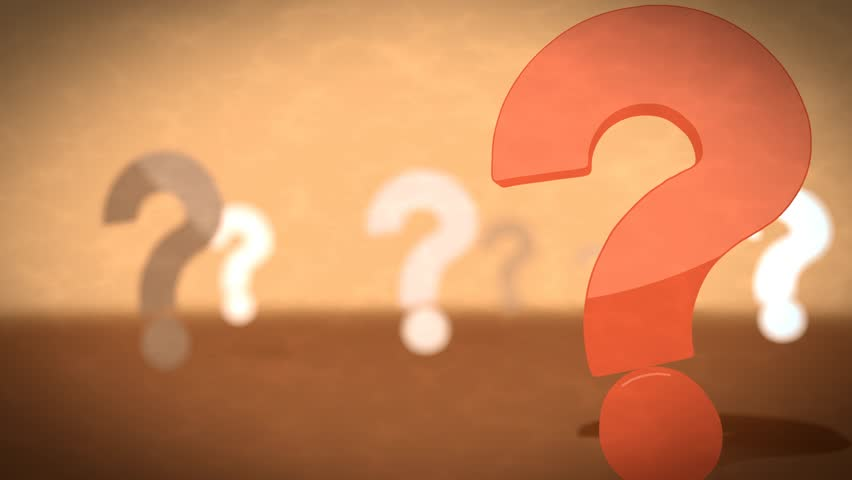 Question Mark Looping Background. Stock Footage Video ...