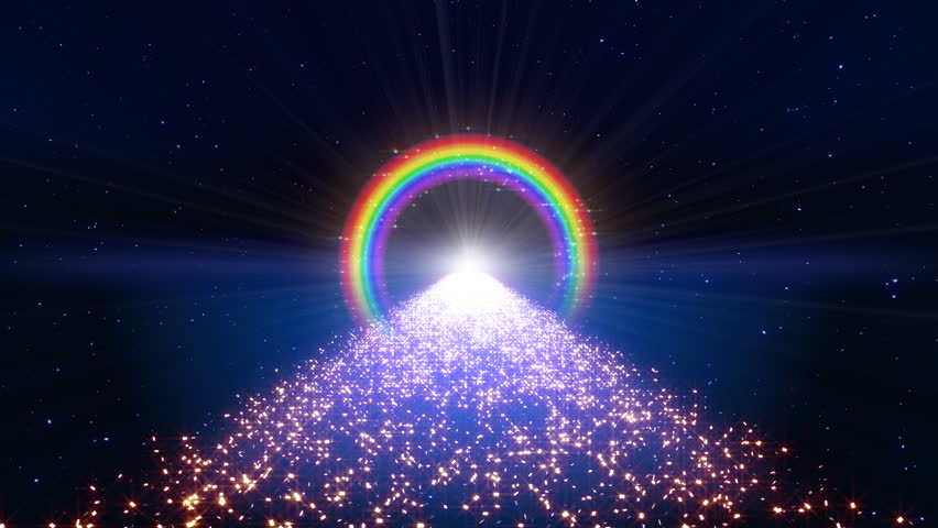Rainbow in space way.