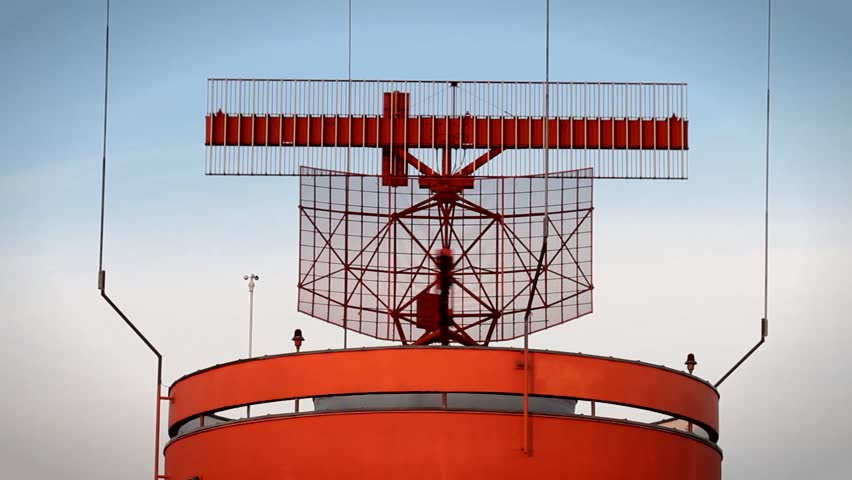 Airport Radar Hamburg - HD stock video clip