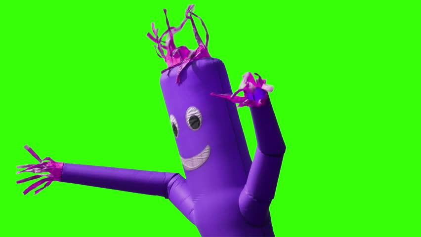 Wacky waving inflatable arm flailing tube man dating video of girl