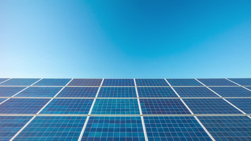 Solar Panels Dolly Time Lapse Stock Footage Video 6950443