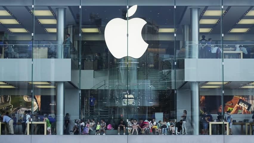 HONG KONG, CHINA - CIRCA 2014: Apple Store in the city center. The first Apple Store in Hong Kong
