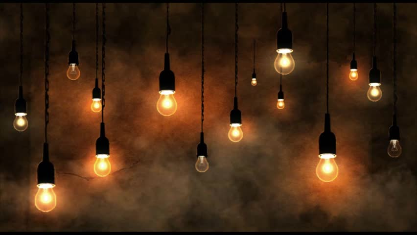 hanging light bulbs background the