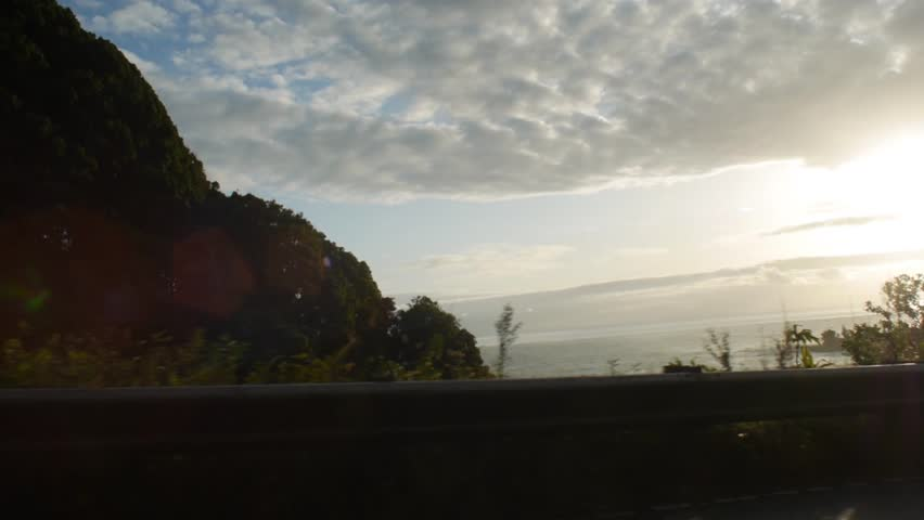Maui, Hawaii - May, 2014 - The view of the drive along Hana Highway.
