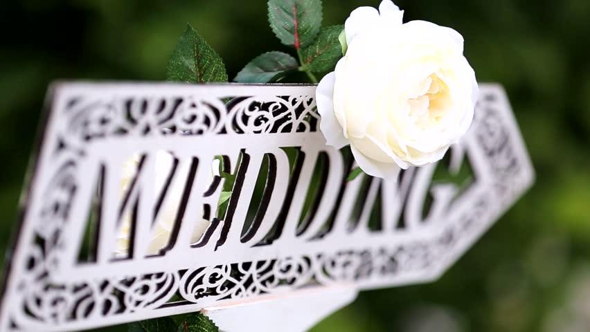wedding decor - HD stock footage clip