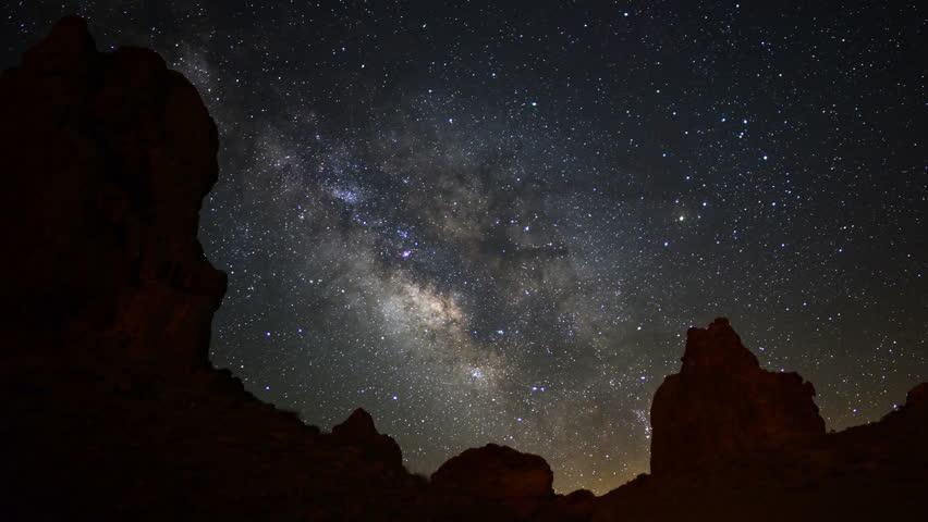 Milky Way Galaxy 21 R Timelapse Trona Pinnacles