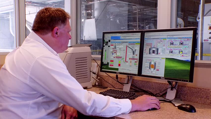 CIRCA 2010s - Control room at an ethanol based refinery. - HD stock video clip
