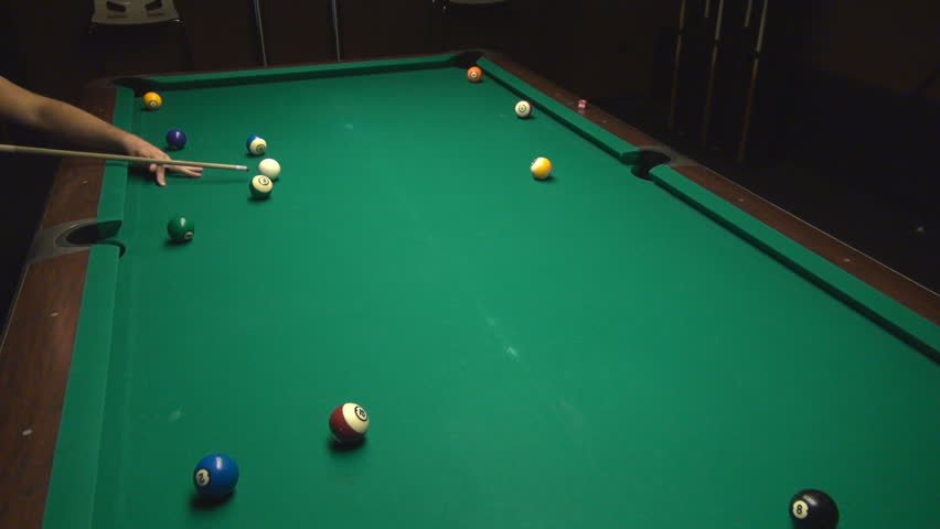 Collection Of Top View On Hitting Billiard Ball On Table Part 1 Stock Footage Video 6498359