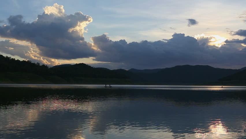Fisherman fishing on the boat   Shutterstock HD Video #7123789