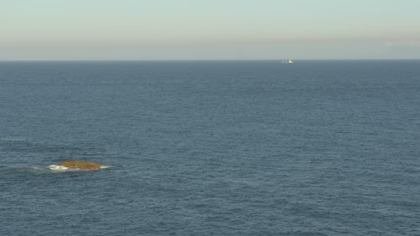 High angle view of the beautiful Izu Peninsula ocean. - 4K stock video clip