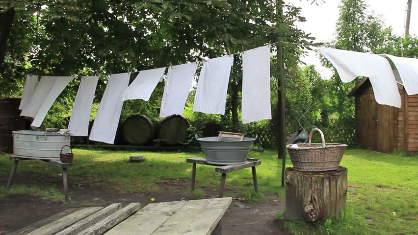 Clothesline stock footage video shutterstock for Como blanquear cortinas
