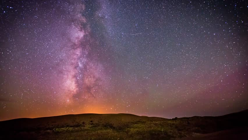 Starry Sky Motion Background, Full HD Stock Footage Video ...