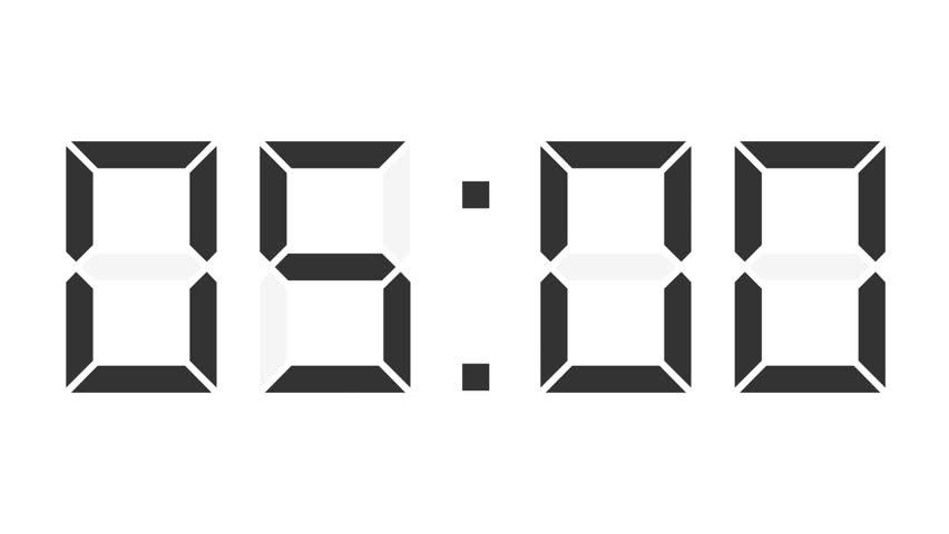 digital clock full 24h time-lapse