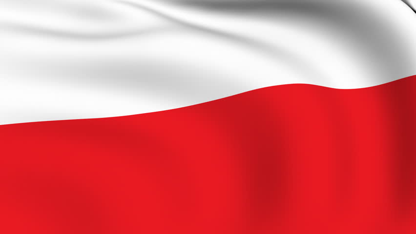 Flying Flag of POLAND | LOOPED | - HD stock footage clip