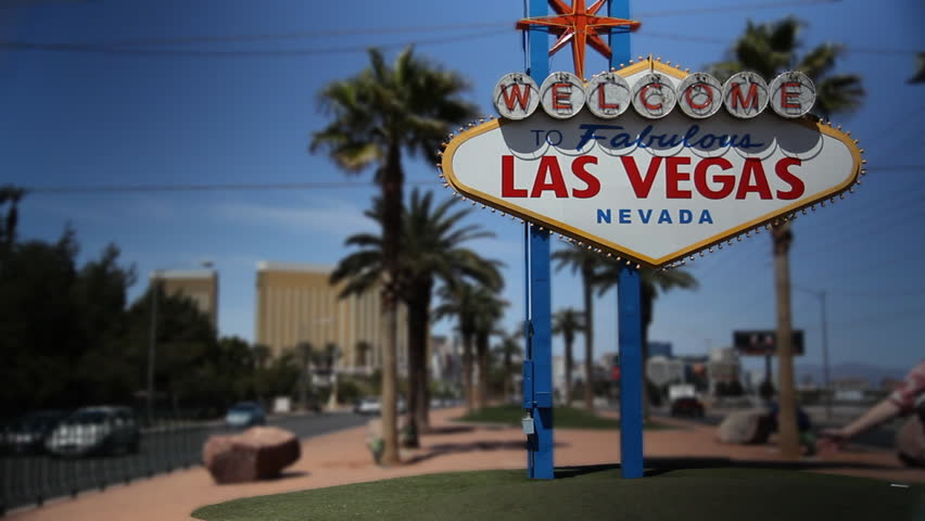 The Las Vegas welcome sign. | Shutterstock HD Video #719398
