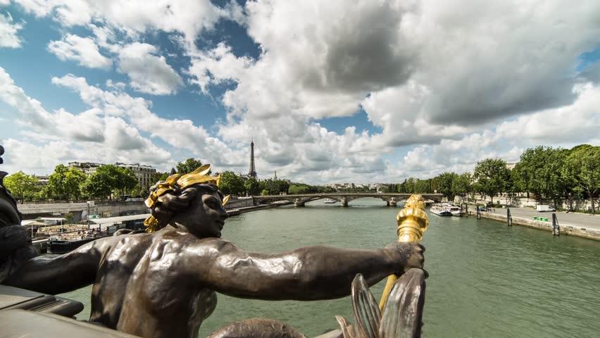 Paris, Pont Alexandre 3 III - Time-lapse   Shutterstock HD Video #7217038