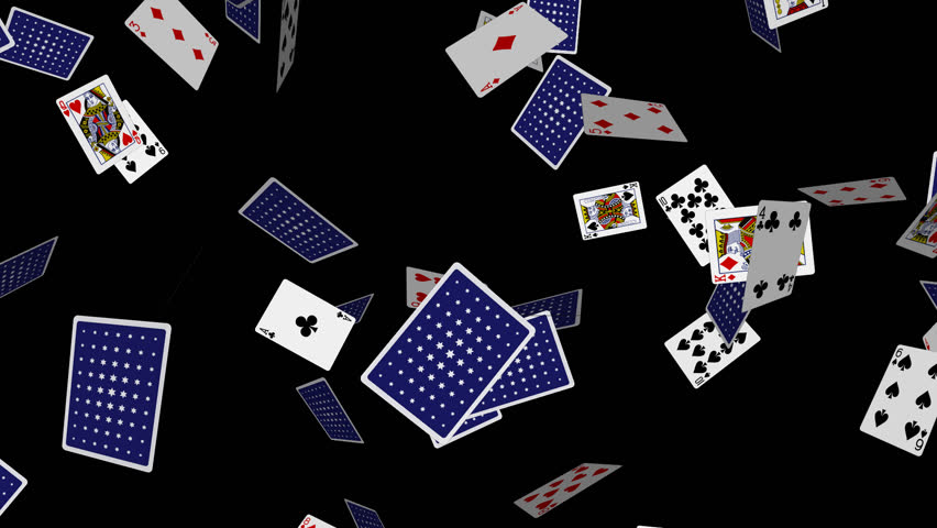 Playing cards falling loop 3 alpha channel 30 fps for Asino amiatino