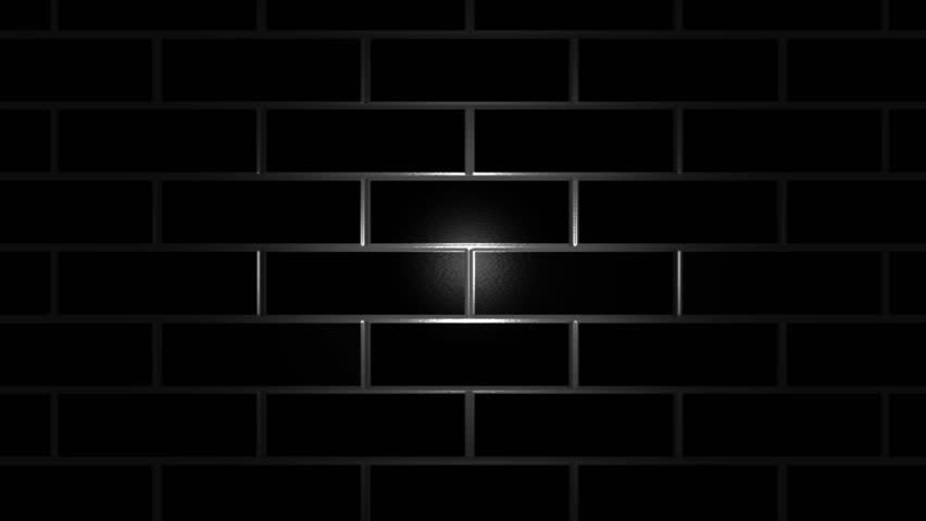 Real brick wall with detailed texture animated with light for Black 3d brick wallpaper