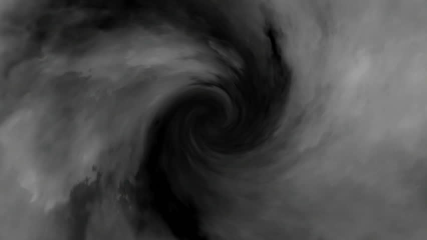 Hurricane cloud animation HD stock footage. An animation of a Hurricane vortex cloud viewed from above.