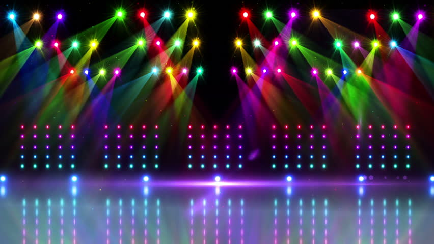 Disco Stage Dance Floor Colorful Vivid Lights Flashing