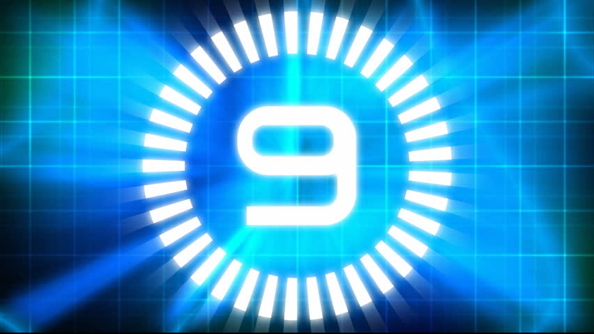 Technological Countdown Intro - HD stock video clip
