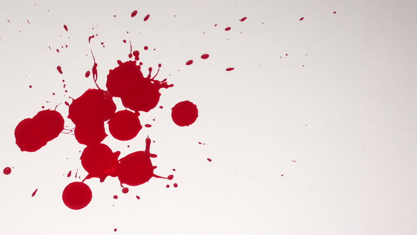 blood dripping onto a white background drops of blood
