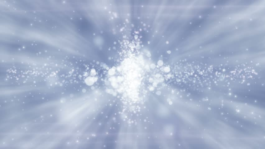 Abstract motion background, shining light, rays, stars, sparks and particles, energy waves, loop. - HD stock footage clip