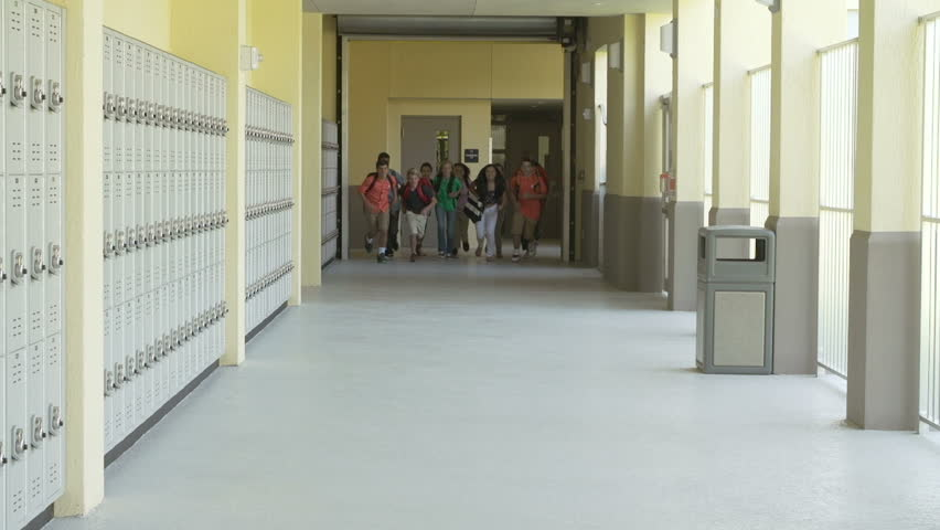 Slow Motion Sequence Of School Students Running In Hallway | Shutterstock HD Video #7352821