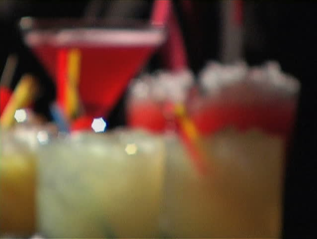 Serving Cocktails - SD stock footage clip
