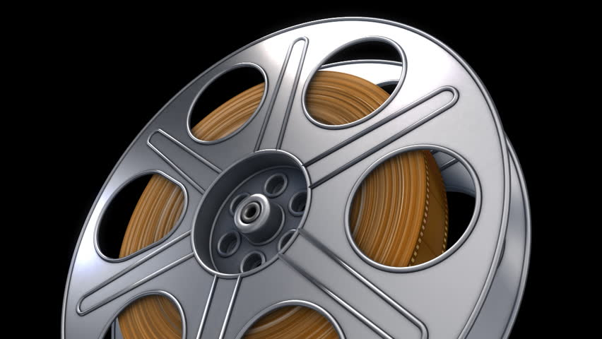 loop turning 35mm film reel with alpha channel35mm  - HD stock footage clip