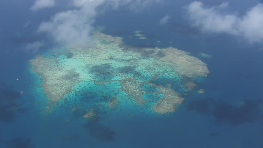 Aerial view of the Great Barrier Reef #7384663