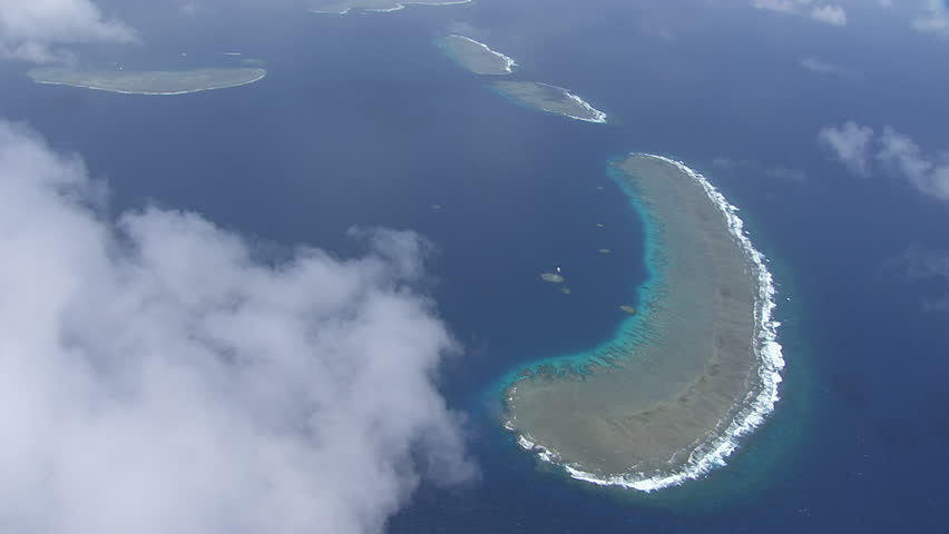 Aerial view of the Great Barrier Reef #7384744