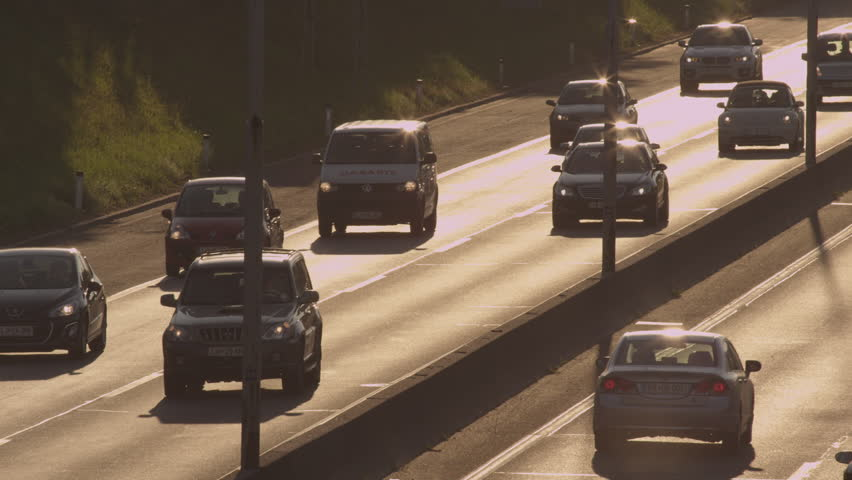 SLOW MOTION: Heavy traffic at motorway in the morning | Shutterstock HD Video #7465537