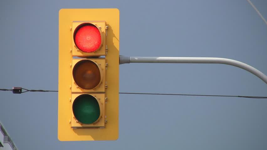 Stop Light turns green.
