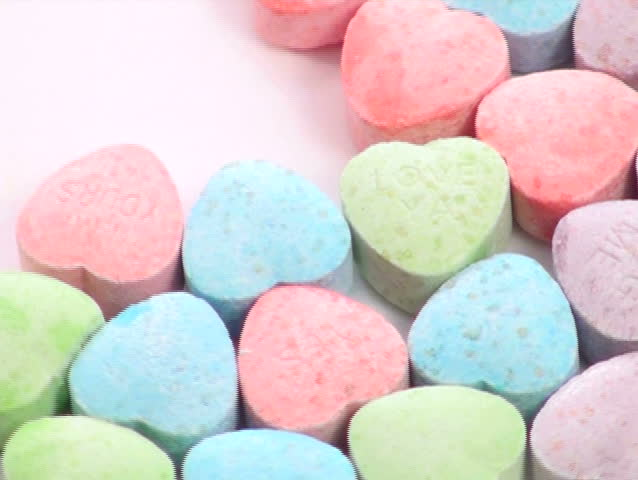 Sweetheart candy zoom - NTSC - SD stock footage clip