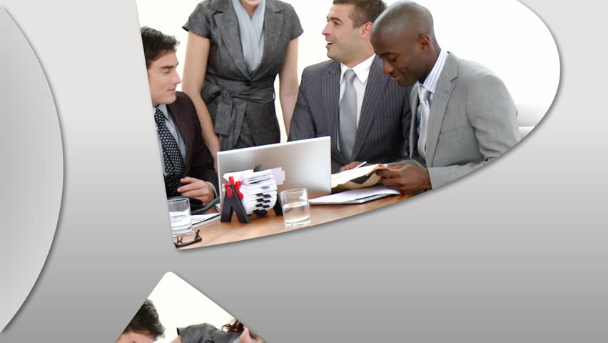 Montage presenting confident business team at work in high definition   - HD stock footage clip