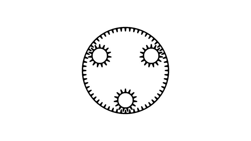 Motion background with set of rotating gears in seamless loop. (full HD, 1920x1080,10 s). - HD stock video clip
