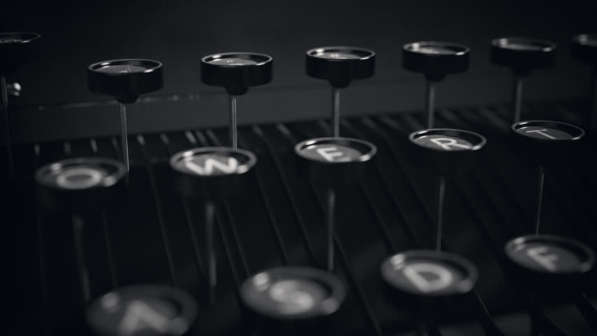 close up of an old vintage typewriter letters 4k ultrahd