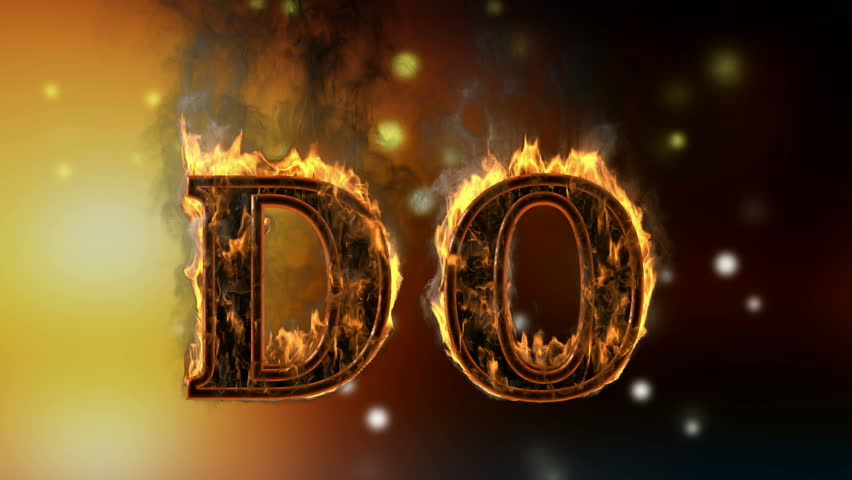 Do . burning word on glowing background | Shutterstock HD Video #7549417