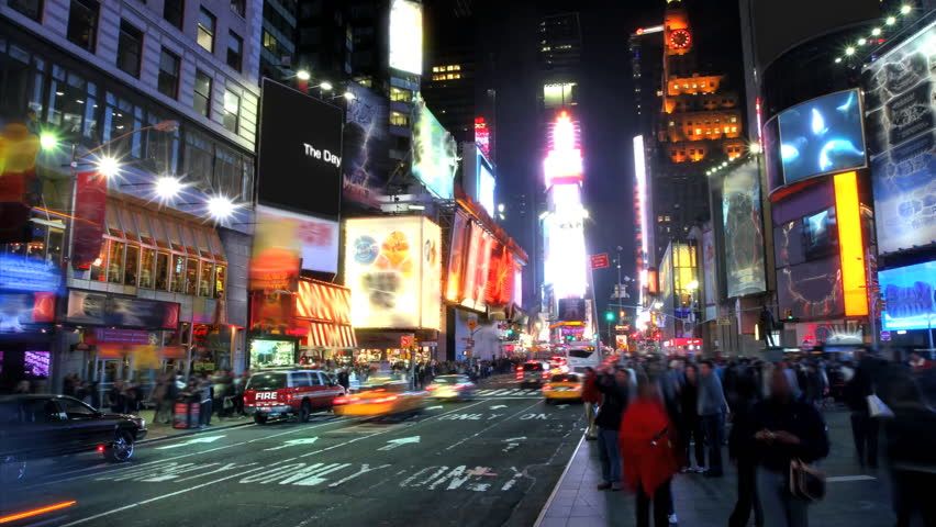 Times Square Time Lapse  - HD stock footage clip