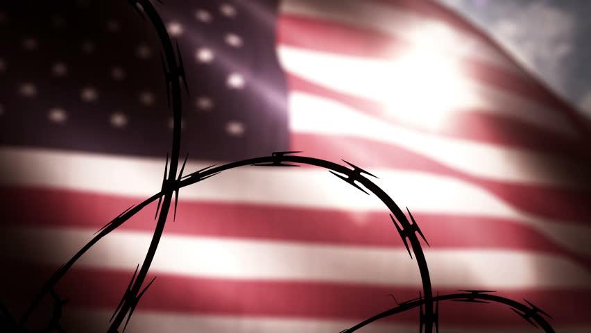 American prison state concept.