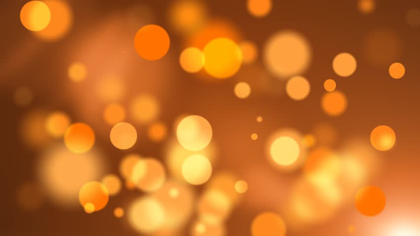 Festive Bokeh Orange Abstract Motion Background