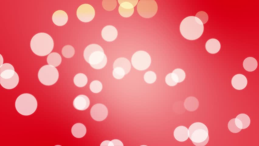 4K Seamless Looping White Large Particles on Red Abstract Background Motion Graphics - News Style Red White Colorful Abstract Motion Backgrounds Orbs and Circles