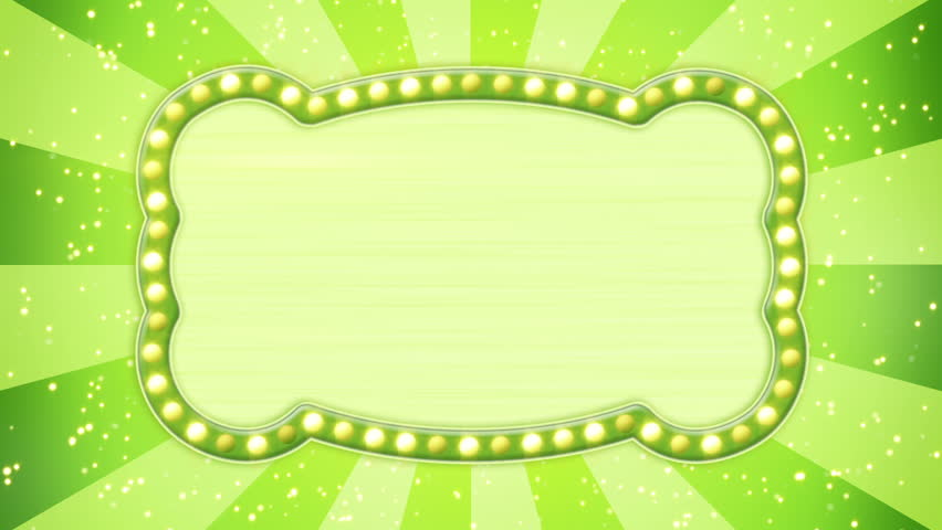 Green Radial Ray Background With Title Plate And Disco