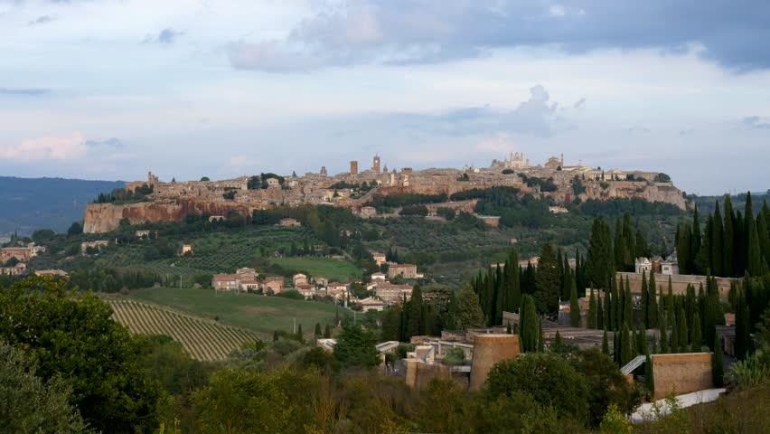 Orvieto, Umbria, Italy (timelapse) - 4K stock footage clip