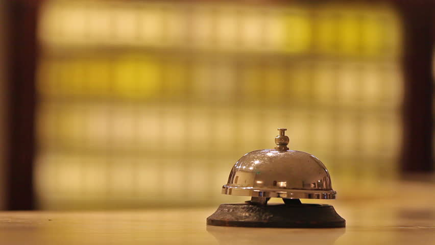 Call at old hotel bell on a marble stand   Shutterstock HD Video #7702210